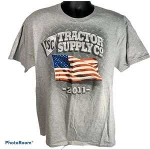 2011 Patriotic Tractor Supply Tshirt Size Large